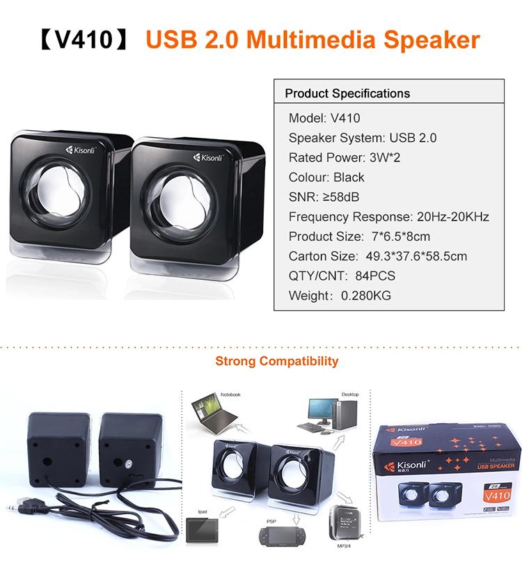 Loa Vi Tính 2.0 Kisonli V410 - Hàng Nhập Khẩu