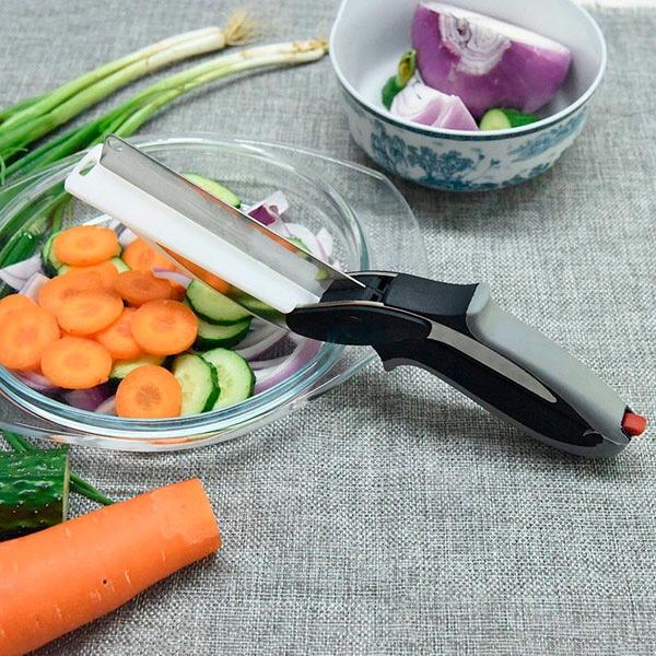 Kéo thông minh đa năng dao và thớt 2 trong 1 tiện dụng tối đa trong nhà bếp
