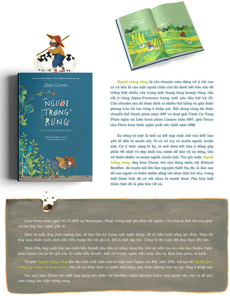 Người Trồng Rừng (Bìa Cứng - Sách Màu)[Cuốn Sách Được Thiền Sư Thích Nhất Hạnh Khuyên Đọc]