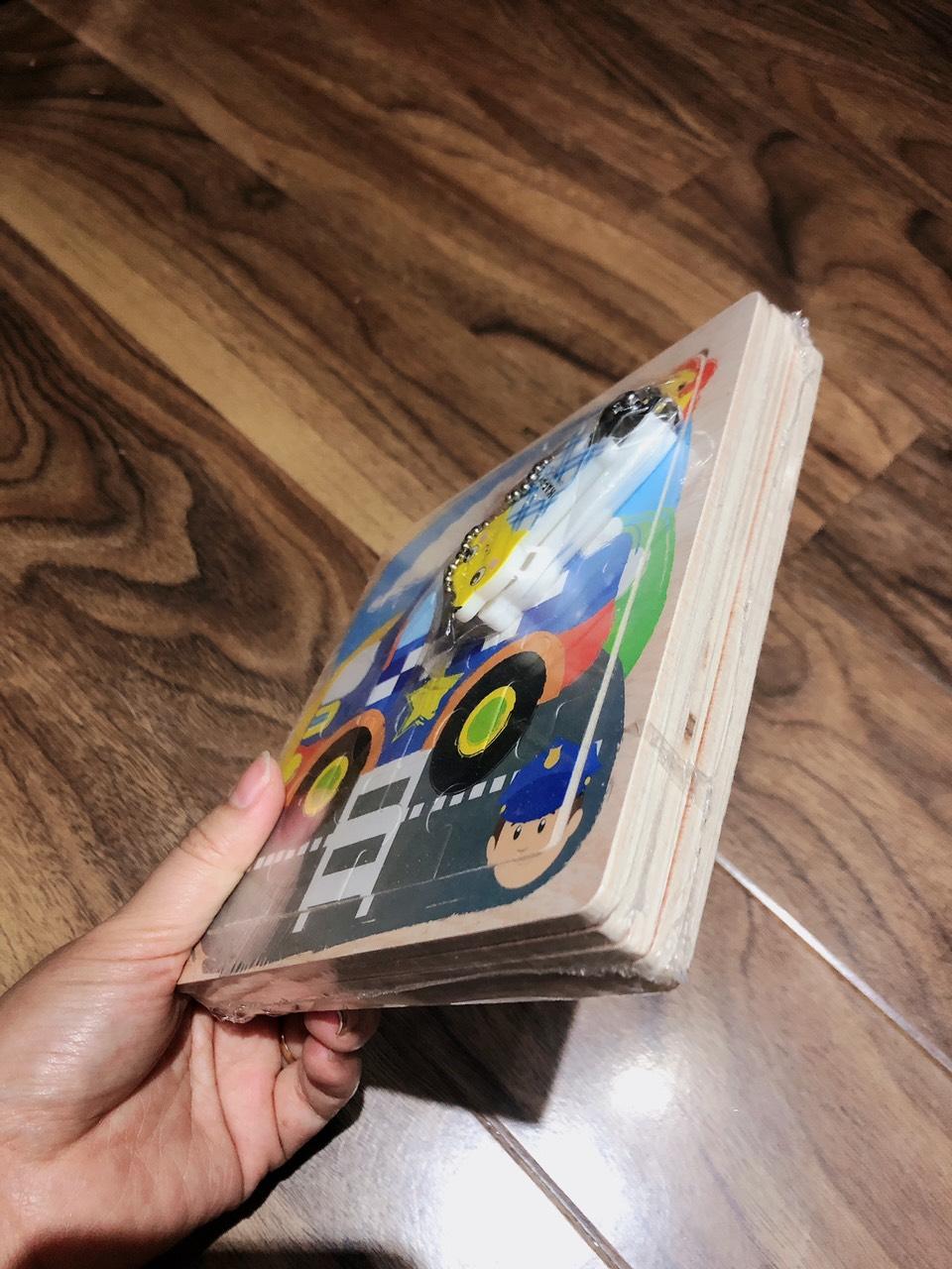 Combo Tranh ghép hình 16 miếng bằng gỗ cho bé tặng kèm bấm móng tay hình thú siêu dễ thương và tiện dụng 11