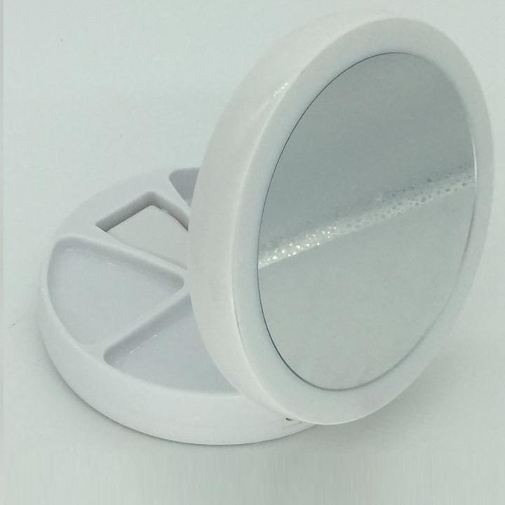 Gương trang điểm gấp gọn có đèn led 3