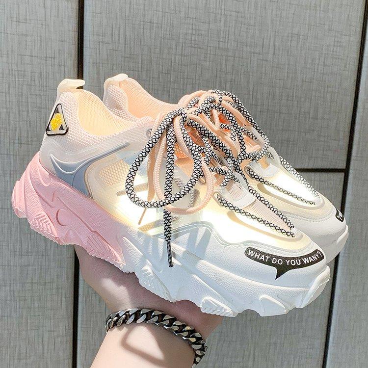 Giày thể thao nữ, giày sneaker nữ lưới đế 3 màu thời trang Hàn Quốc 7