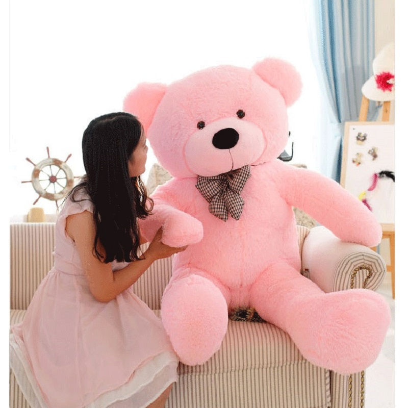Gấu bông gối ôm cỡ lớn, thú nhồi bông cao cấp 3
