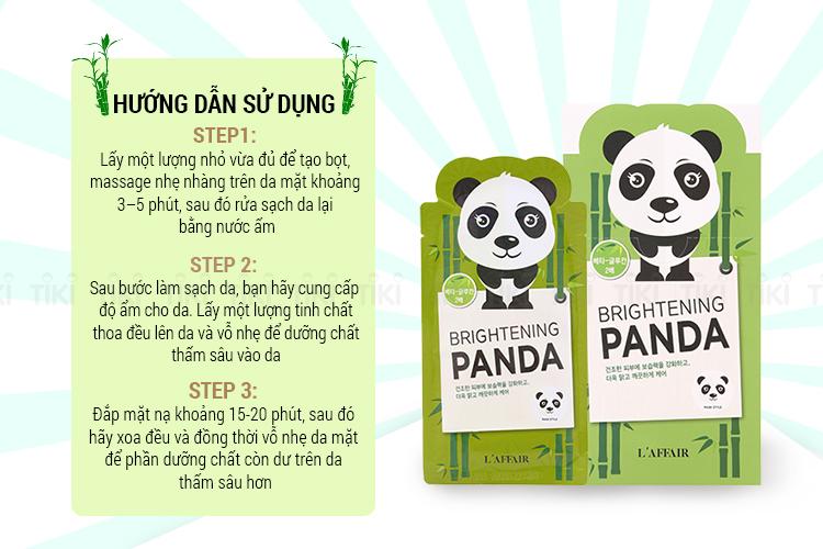 Hộp 10 Miếng Mặt Nạ Dưỡng Da Rainbow L'Affair Panda Mask