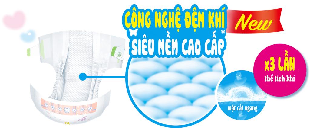 Bỉm Tã Merries Nội Địa Nhật hàng thêm miếng NB96( Cho Trẻ Dưới 5kg) 3