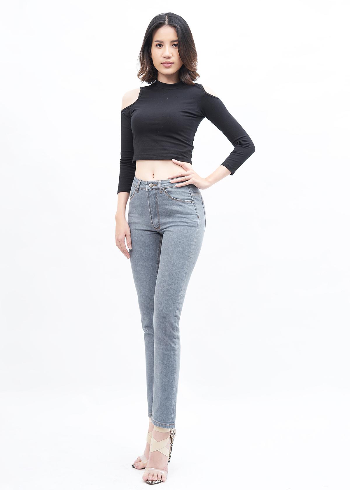 Quần Jean Nữ Ống Đứng Lưng Cao Aaa Jeans Có Nhiều Màu Size 26 - 32 4