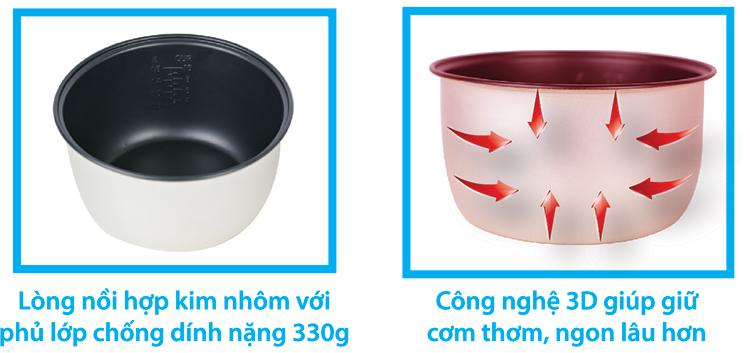 Nồi cơm điện nắp gài Happy Cook HCJ-180T3D (1.8L)