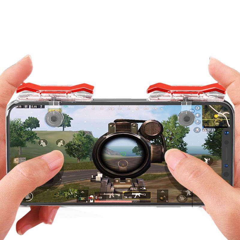 Bộ 2 Nút Chơi Game Pubg Mobile, Ros, Cf Dòng E9 Trong Suốt (Đỏ Hoặc Bạc) 16