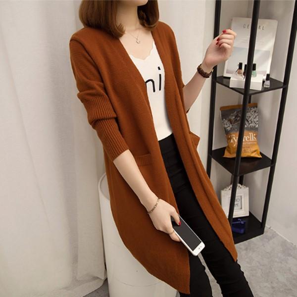 Áo len nữ cardigan dáng dài phong cách trẻ trung 1