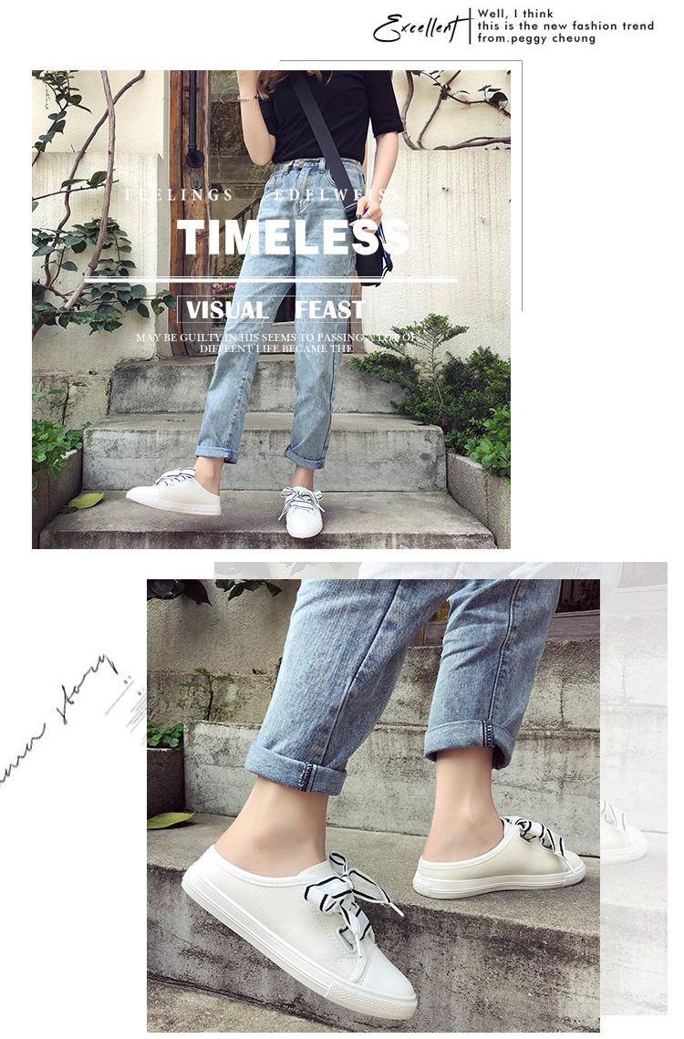 Giày Sục Sneaker Thể Thao Nữ Vải Mềm Stye Hàn Quốc Cực Xinh 3Fashion - 3181 5