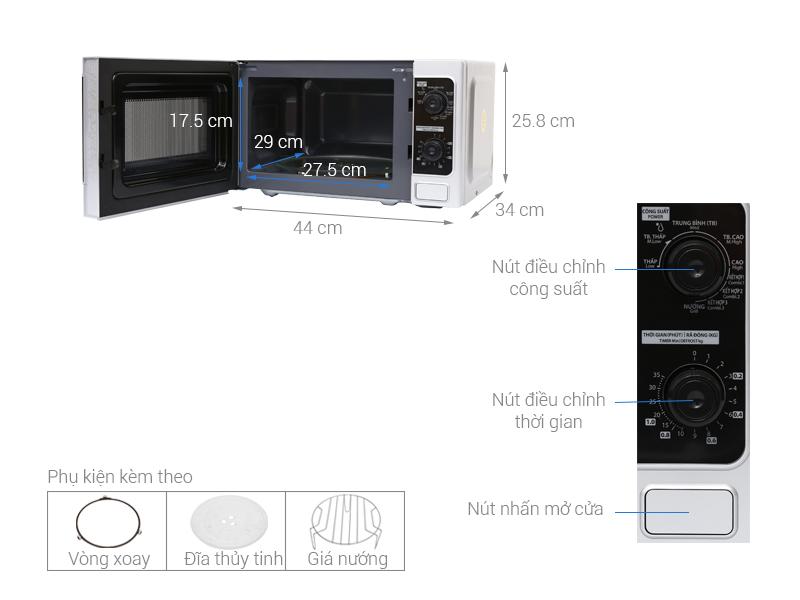 Lò vi sóng Toshiba ER-SGM20(S)VN (20L) - Hàng chính hãng