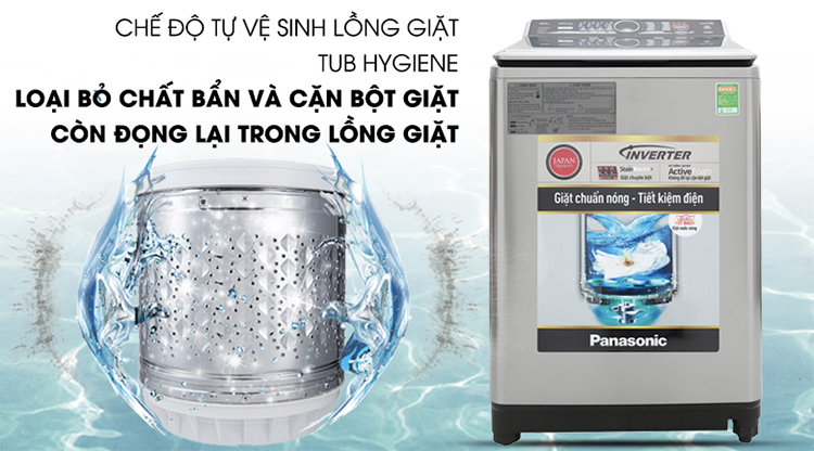 Máy Giặt Cửa Trên Inverter Panasonic NA-FS13X7LRV (13kg)