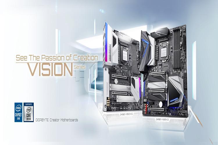 Bo mạch chủ Mainboard Gigabyte Z490 VISION G - Hàng Chính Hãng