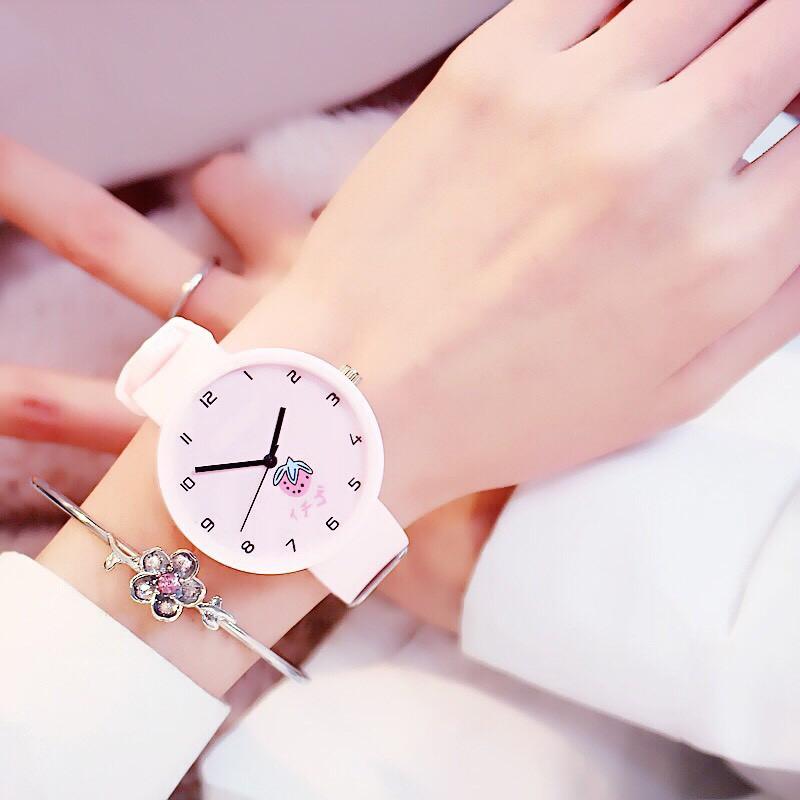 Đồng hồ nữ trái dâu Nhật Bản 4 màu thời trang 4