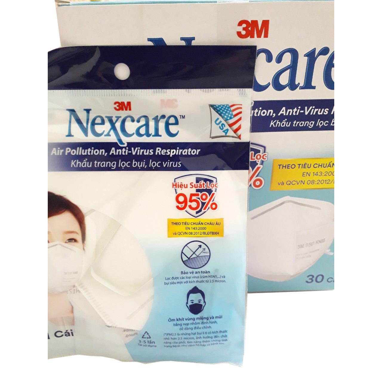 Khẩu trang KN95 3M Nexcare 9501 (1 cái/ gói) Hàng chính hãng Khẩu trang lọc  bụi, lọc virus theo tiêu chuẩn Châu Âu | Tiki.vn