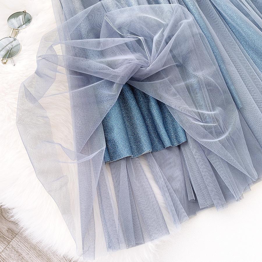 Váy xòe lưới tutu loang mầu lấp lánh VAY53 19
