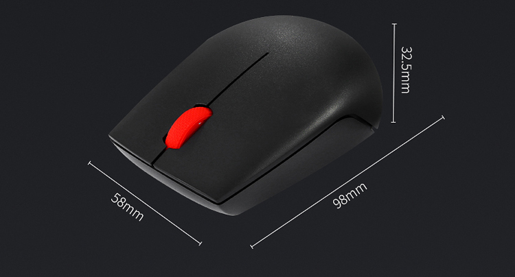 Lenovo (lenovo) N1901A wireless mouse office mouse red dot mouse classic red dot mouse black