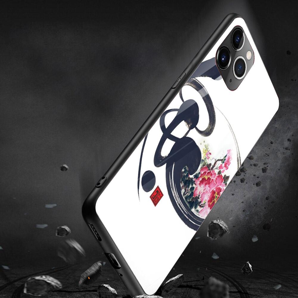 Ốp kính cường lực cho điện thoại iPhone 11 Pro Pro Pro - thu pháp tâm tài lộc đức MS TPTTLD012