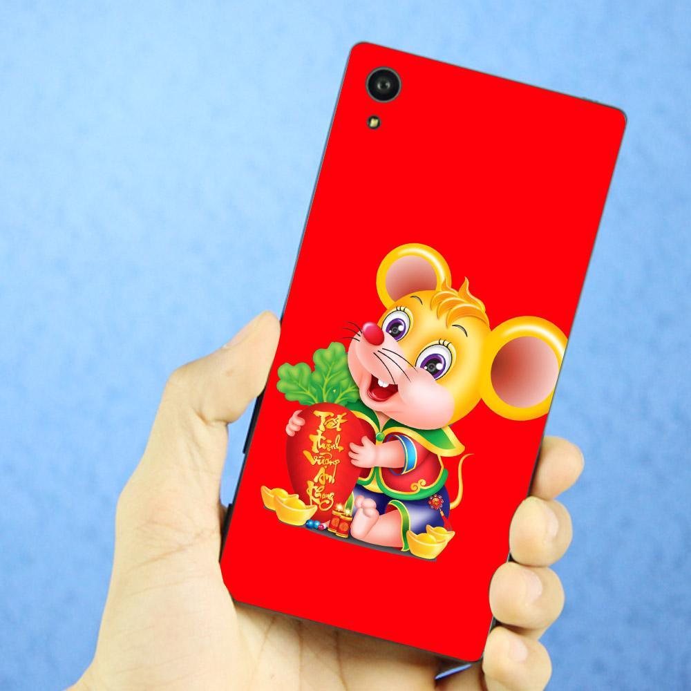Ốp lưng cứng viền dẻo dành cho điện thoại Sony Xperia XA1 - Chuột ôm vàng 02 MS COV001