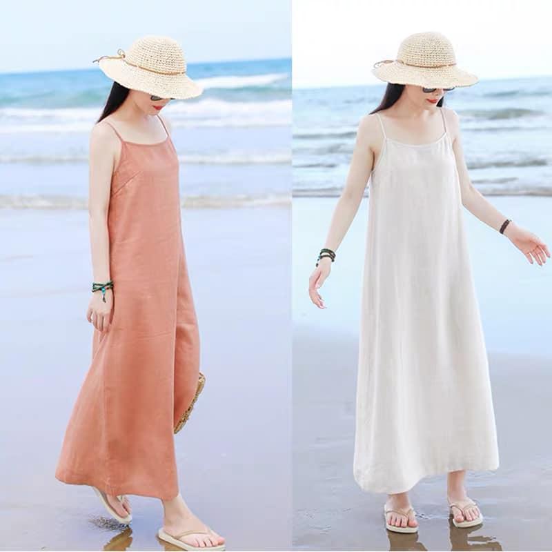 Đầm suông 2 dây đi biển LAHstore, chất thô mềm mát, thời trang phong cách Hàn Quốc 1