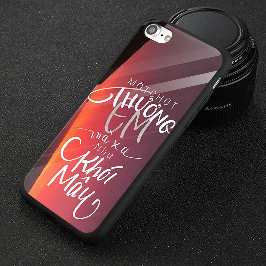 Ốp điện thoại kính cường lực cho máy iPhone 6 Plus/6s Plus - châm ngôn sống MS CNGON005