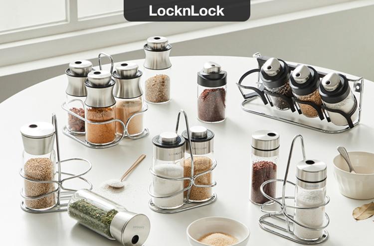 Bộ Lọ Đựng Gia Vị 4P LOCK&LOCK LLG842 SLIM - 130ML