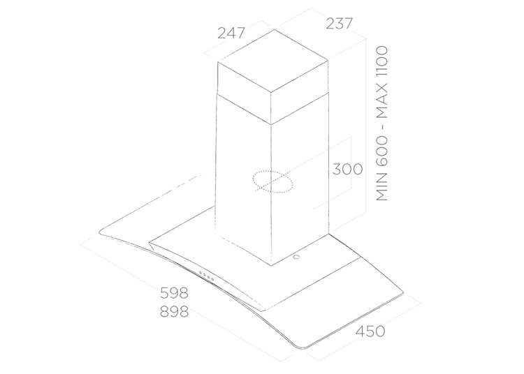 Máy Hút Mùi Dạng Ống Elica CIRCUS IX/A/90 ( No Filter ) (90cm) - Hàng Chính Hãng