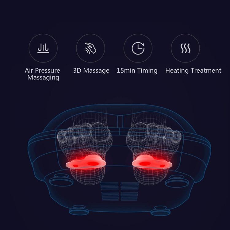 Xiaomi Leravan Lefan Lf Foot Reflexology Massager Electric Feet Warm Heating Vibrating Massage Shoes Machine 3D Hot Grey