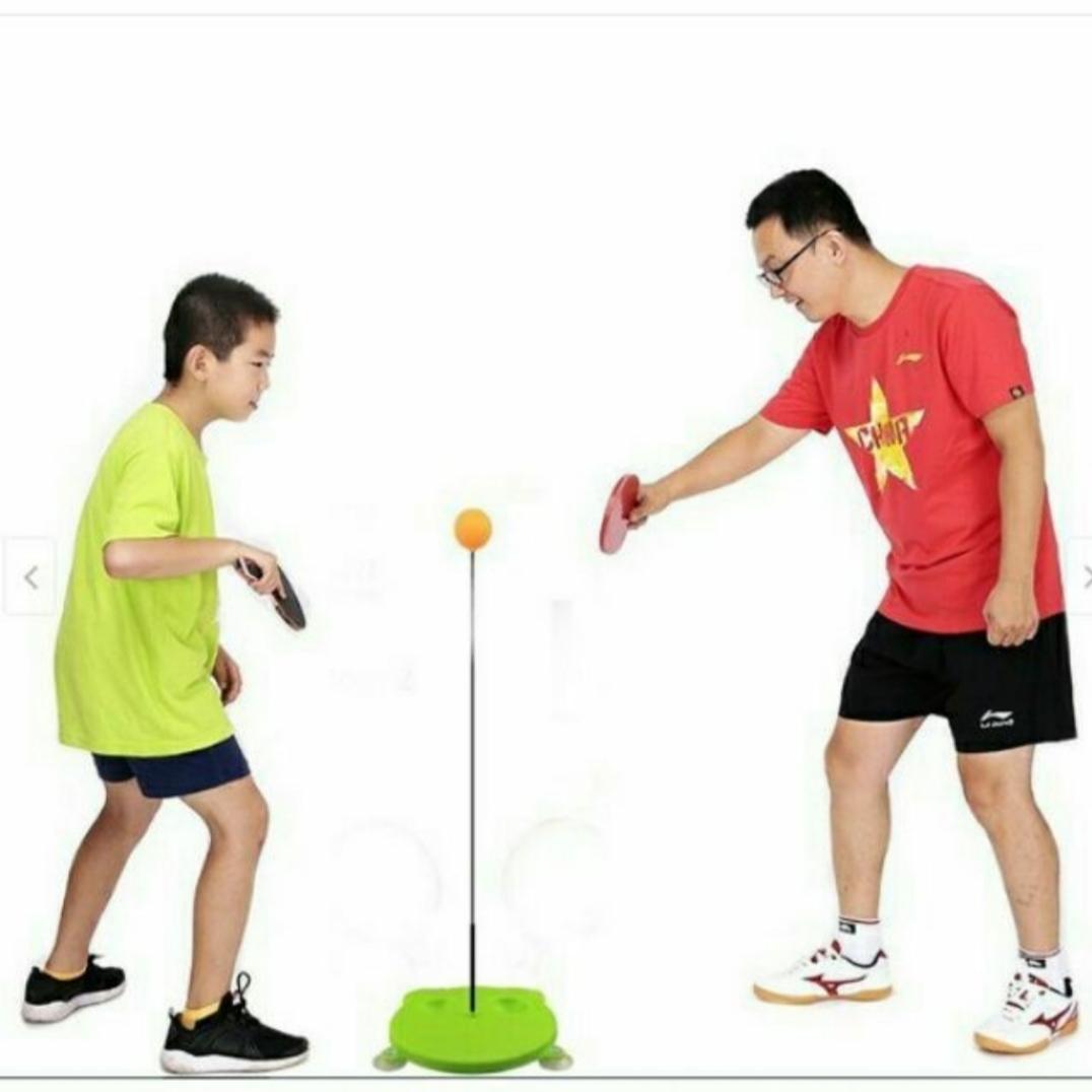 Bộ bóng bàn luyện tập phản xạ vợt cán gỗ cho bé vui chơi mọi lúc mọi nơi 3