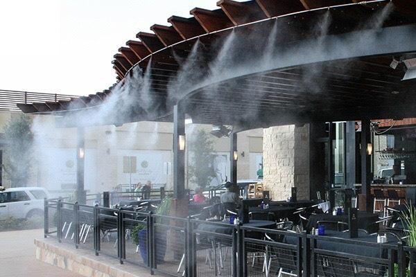 Bộ phun sương tạo ẩm làm mát không khí và tưới lan (10 béc đồng) 2