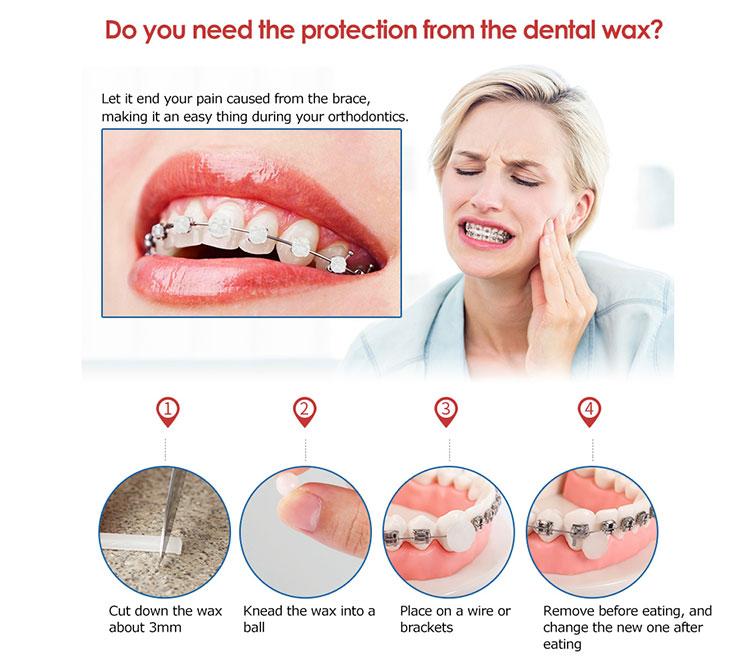 5 Boxes/pack Brace Gum Irritation Relief Wax For Braces Wearer Protector Dental Orthodontics Teeth
