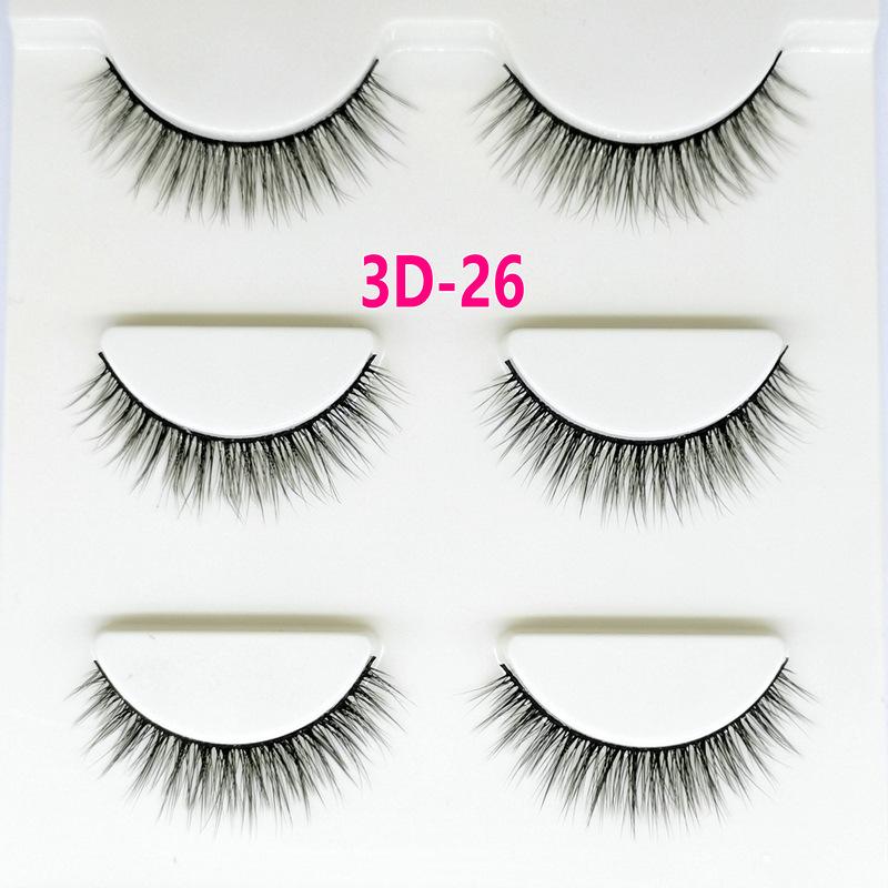 Lông mi giả lông chồn 3 Fashion Eyelashes 3 Faux-Cils 3D 1 bộ 3 cặp 102