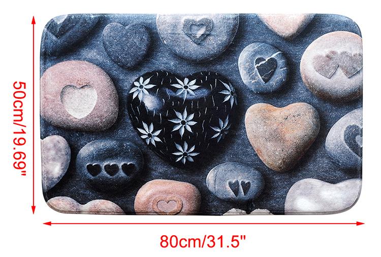 Carpet Doormat Mat Stone Print Bath Rug Non-Slip Doormat Welcome Floor Mats (1)