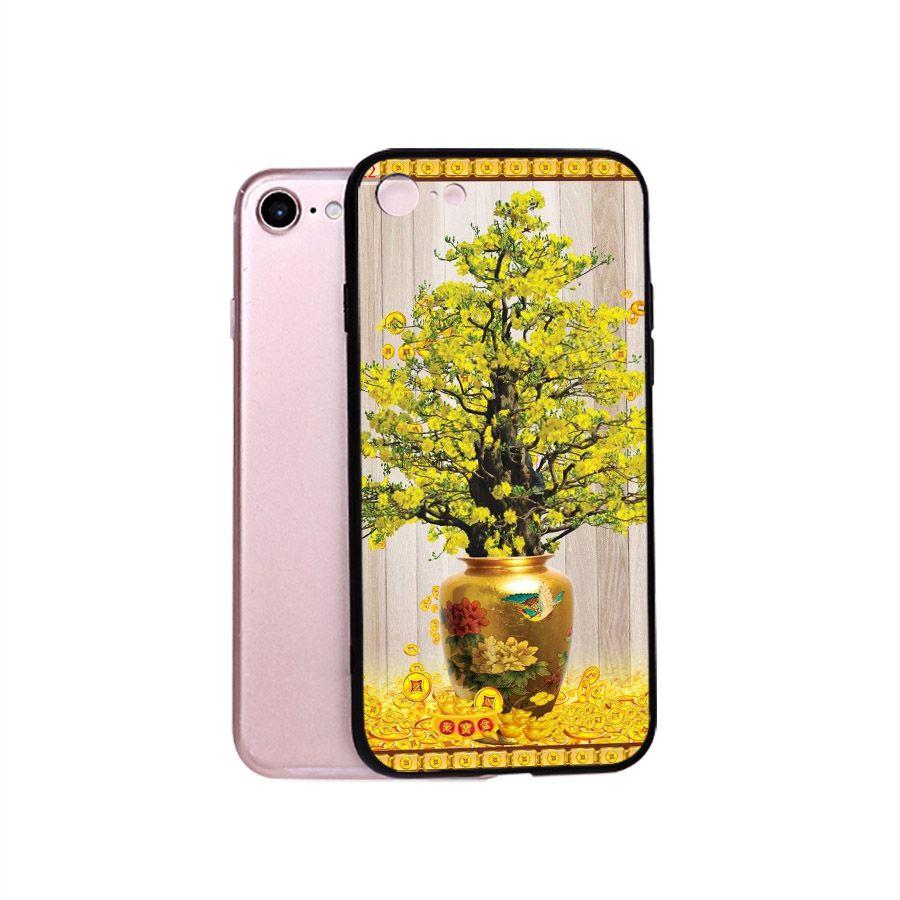 Ốp điện thoại dành cho máy iPhone 5/5s/se - Tranh Mai Đào MS MDAO018
