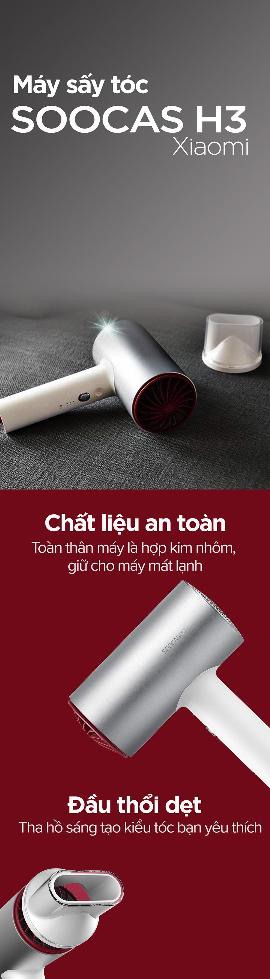 Máy sấy tóc Xiaomi Soocas H3 1800W