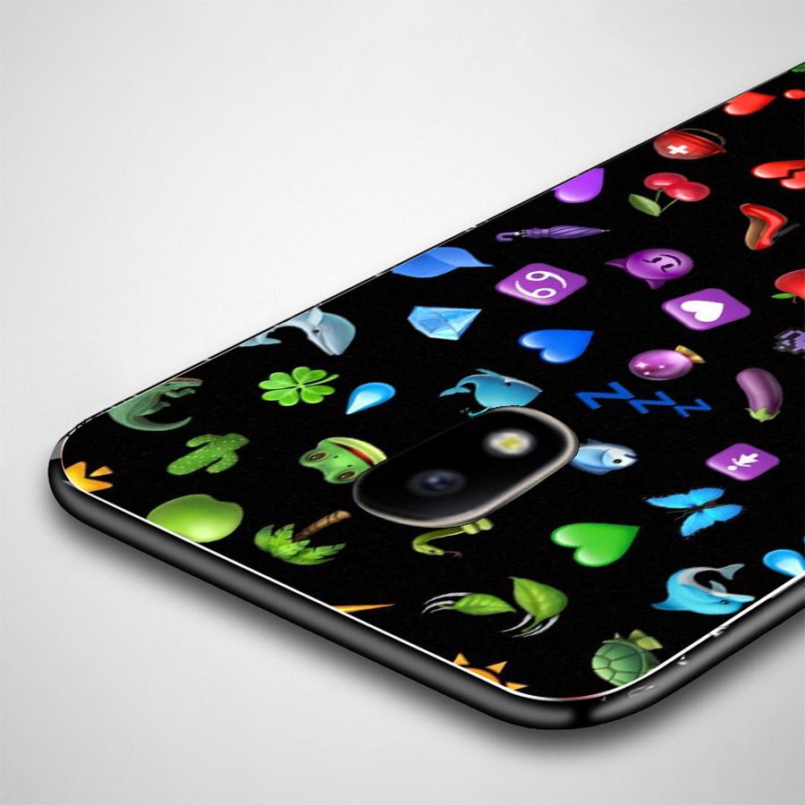 Ốp lưng cứng viền dẻo dành cho điện thoại Samsung Galaxy A7 2015 - emoji kute MS EMJKT035