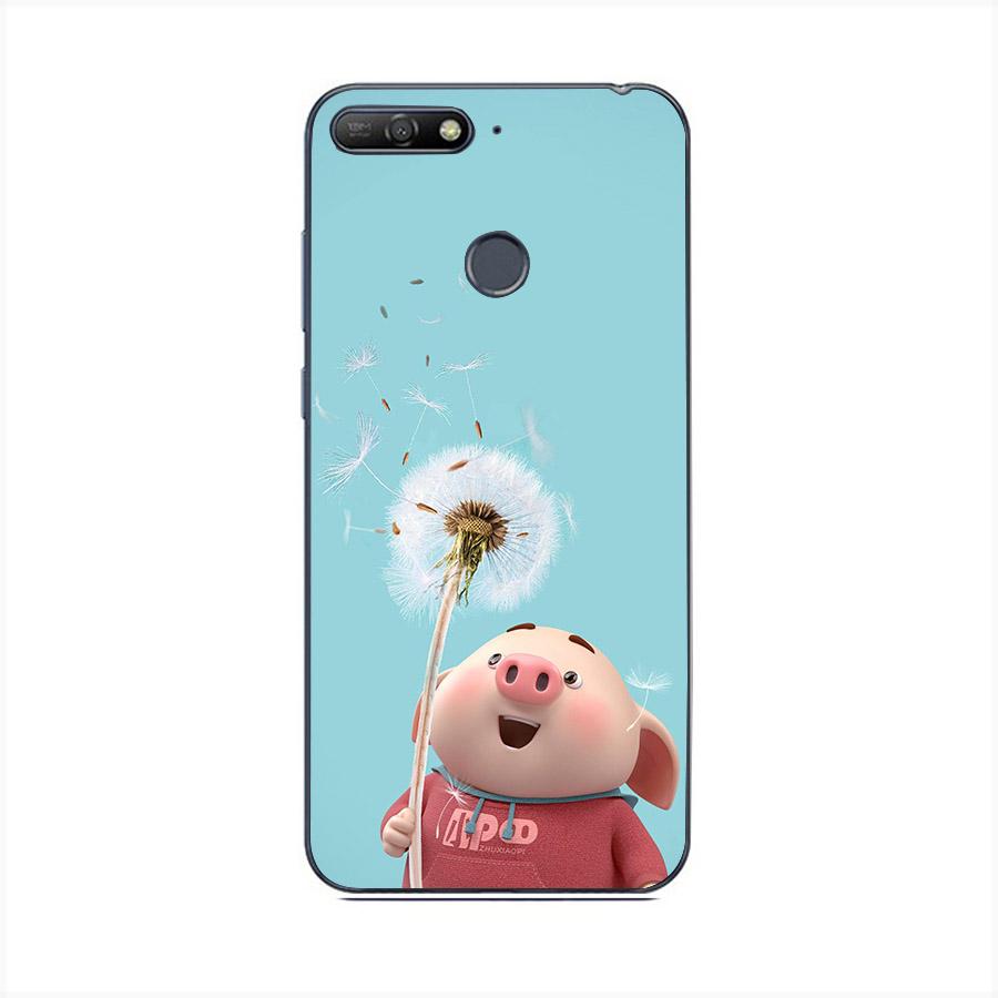 Ốp lưng cứng viền dẻo dành cho điện thoại Huawei Honor 7C - Heo Dễ Thương MS HDTDD067