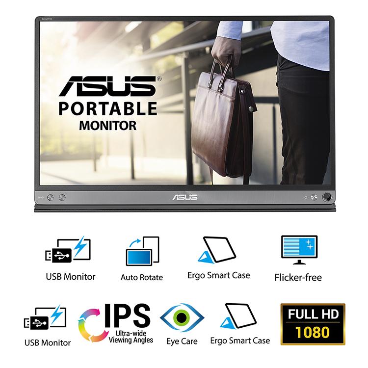 Màn Hình Di Động Asus ZenScreen MB16AC 16inch Full HD 5ms 60Hz IPS USB Type-C - Hàng Chính Hãng