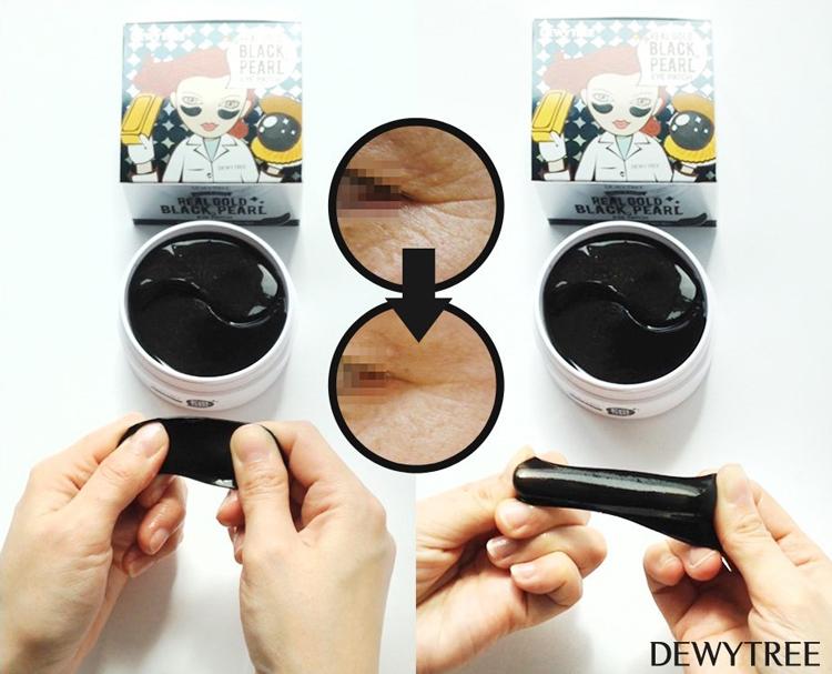 Mặt Nạ Đánh Bay Quầng Thâm Mắt Dewytree Real Gold Black Pearl Eye Patch 60 Miếng
