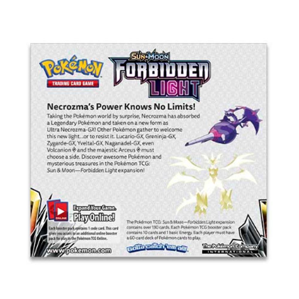 Bộ Thẻ Pokemon Sun And Moon Forbidden Light (36 Bao)