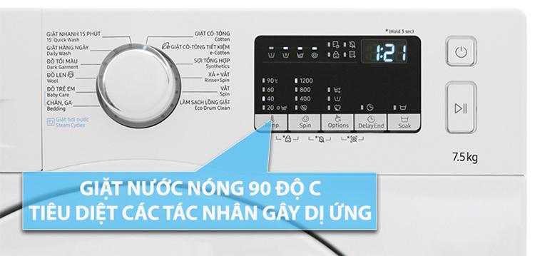 Máy Giặt Samsung Inverter WW75J42G0KW/SV (7.5kg)