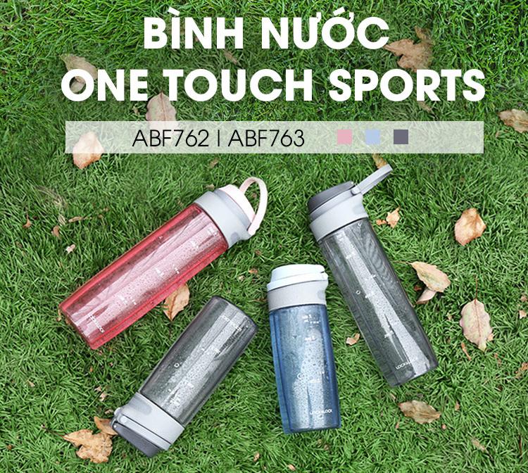 Bình Nước Bằng Nhựa Tritan One Touch Sport Lock&Lock ABF762BLU - Xanh Dương (550ml)