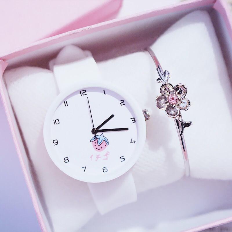 Đồng hồ nữ trái dâu Nhật Bản 4 màu thời trang 9