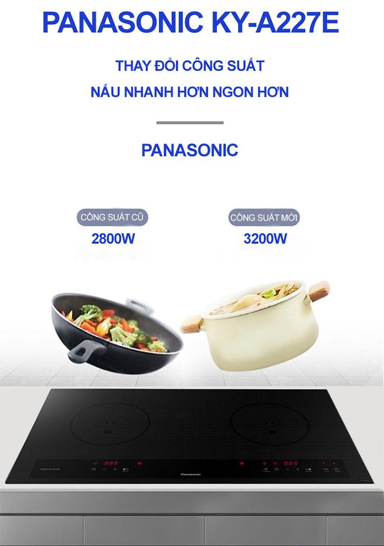 Bếp Âm Từ Đôi Panasonic KY-A227E (74.2 cm) - Hàng Chính Hãng