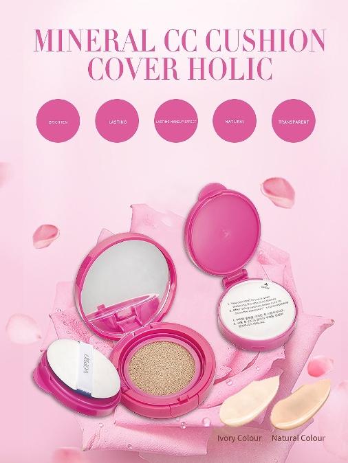 Phấn Nước Trang Điểm - Macqueen Mineral CC Cushion Cover Holic 1
