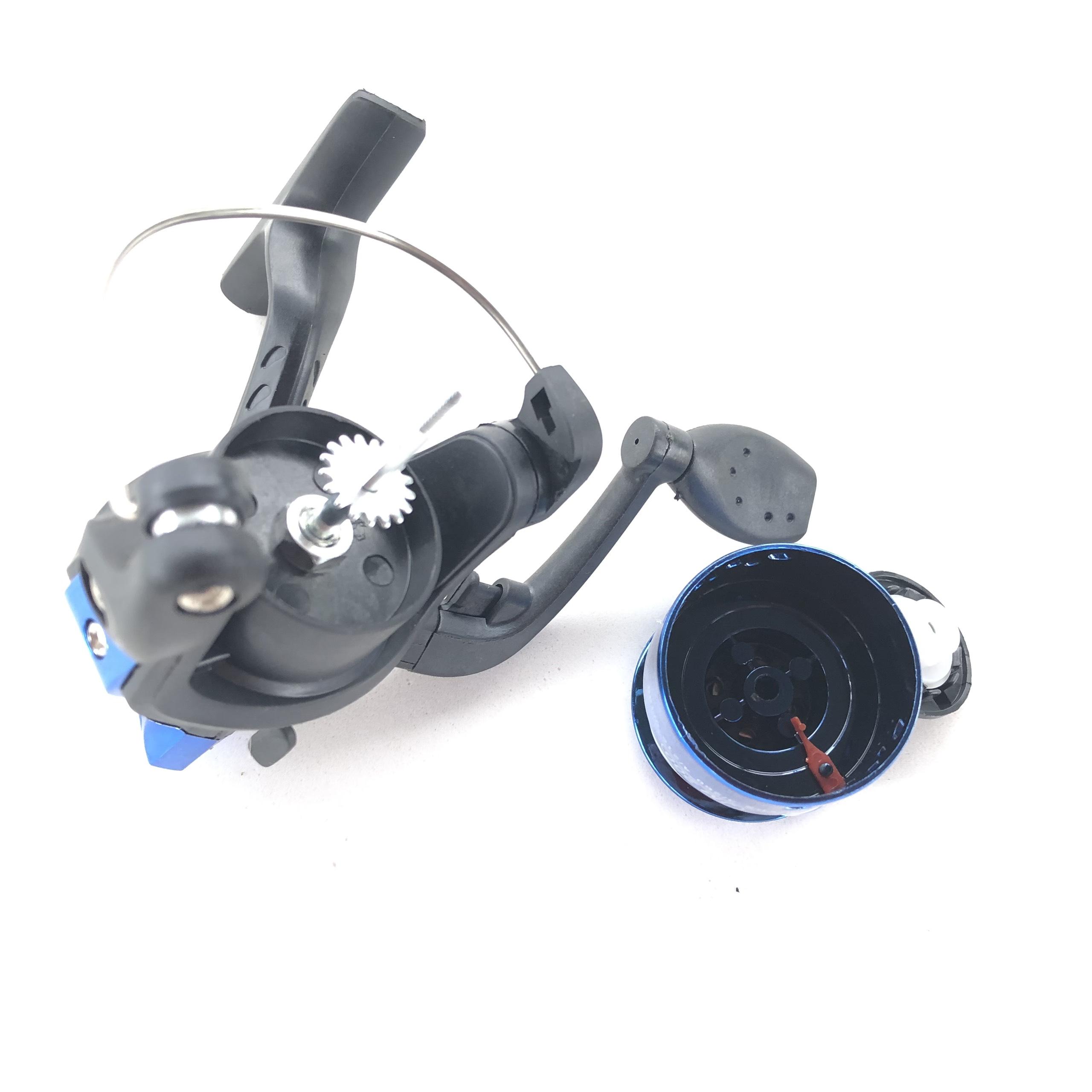 Máy câu cá mini kèm 80m dây cước cuốn sẵn. Phụ kiện câu cá chuyên nghiệp, gọn nhẹ, dễ dàng mang theo và tháo lắp khi cần thay thế. 2