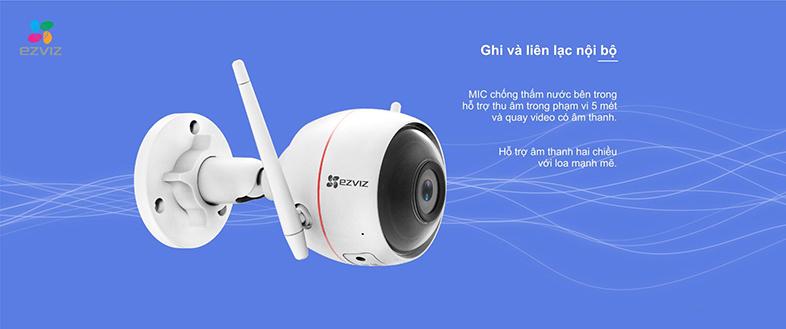 Camera IP Wifi EZVIZ C3W 720P có đèn còi - đàm thoại 2 chiều - hàng nhập khẩu 4