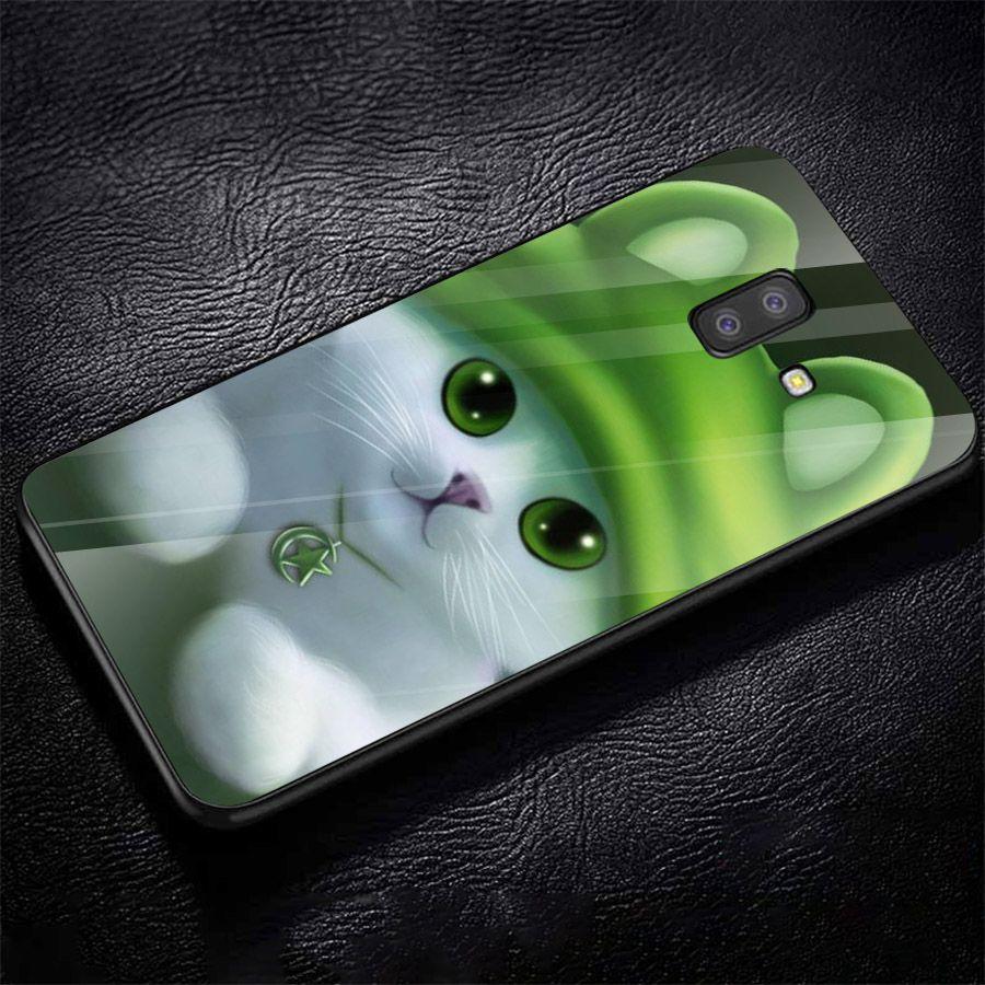 Ốp kính cường lực cho điện thoại Samsung Galaxy J6 - dễ thương muốn xỉu MS CUTE023