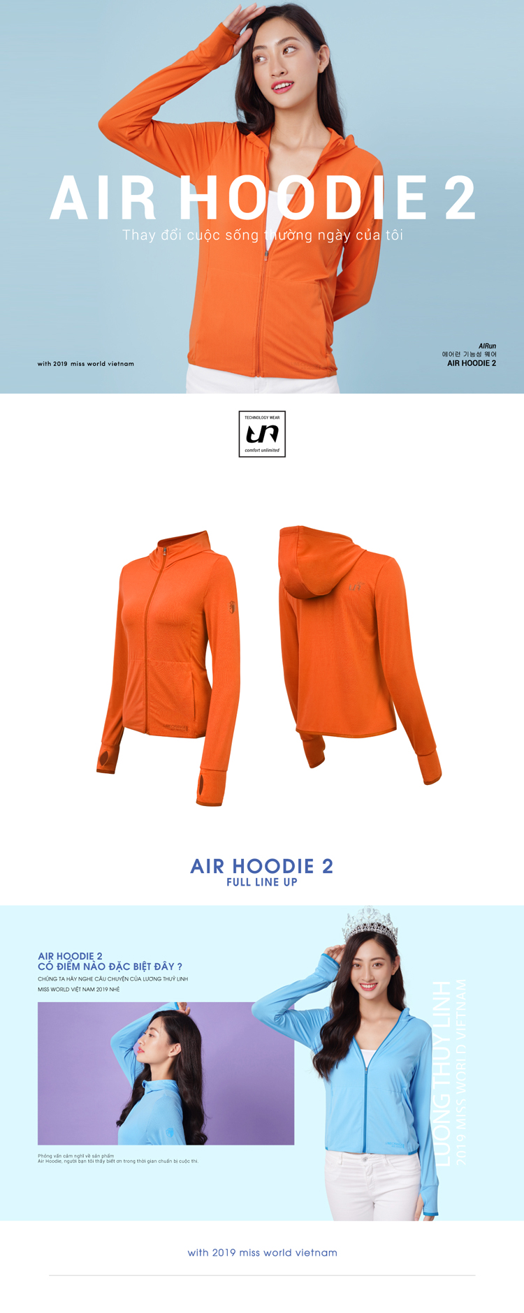 Áo khoác nữ Air Hoodie LO19707101-O 1
