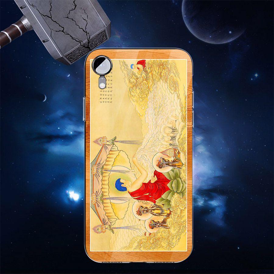 Ốp điện thoại kính cường lực cho máy iPhone XS MAX - tôn giáo MS TONGIAO044